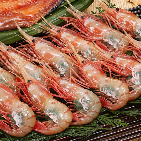 【期間限定価格】カネシメ食品  通販「船上氷結ボタンエビ!オス&メス食べ比べ1キロ(約17〜18尾)セット」《送料無料》(※沖縄、離島除く)