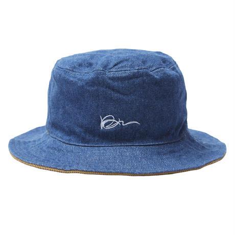 KANI CORD REVERSIBLE HAT / KHAKI & BLUE DENIM