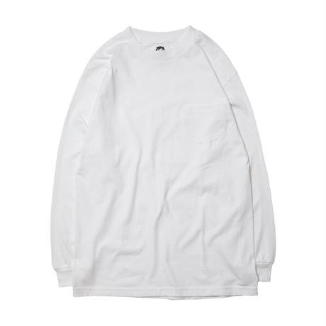 DISC LONG SLEEVE TEE / WHITE
