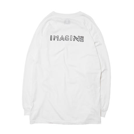 IMAGINE LONG SLEEVE TEE / WHITE