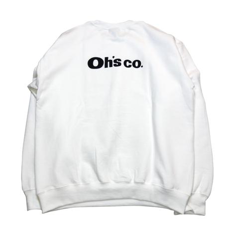 Oh's staff Sweat shirts WHITE
