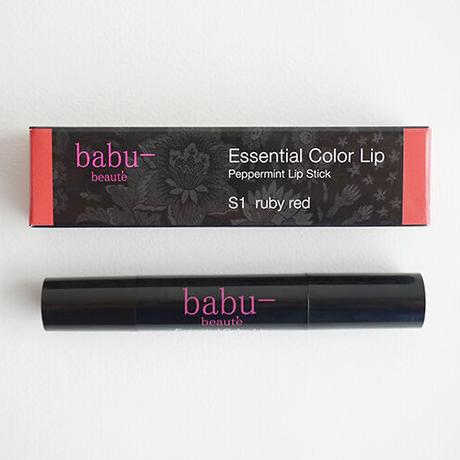 babu-beaute バブーボーテ エッセンシャルカラーリップ ルビーレッド