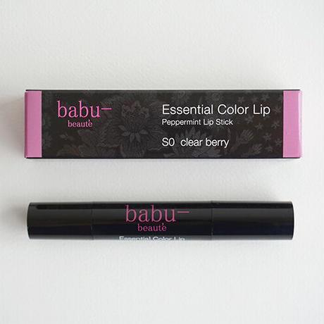 babu-beaute バブーボーテ  エッセンシャルカラーリップ クリアーベリー