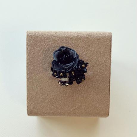〖RING〗黒いメタルのバラリング