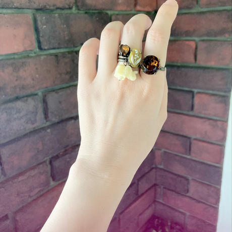 〖RING〗ブラウンキャンディリング