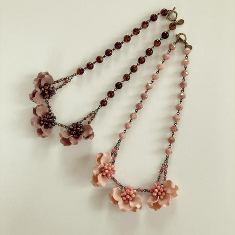 〖NECKLACE〗チョコレートフラワーネックレス