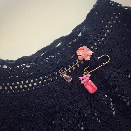 〖STOLE PIN・BROOCH〗ピンクのチューリップストールピン