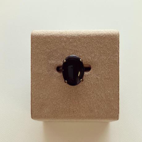〖RING〗ヴィンテージオーバルリング ブラック
