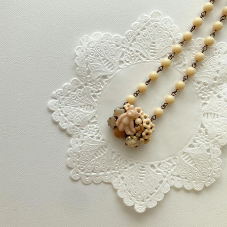 〖NECKLACE〗ベージュのクマネックレス