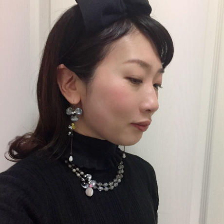 〖NECKLACE〗シックフラワーネックレス イエロー
