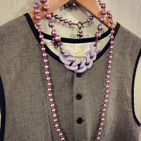 〖NECKLACE〗コットンパールレジンネックレス