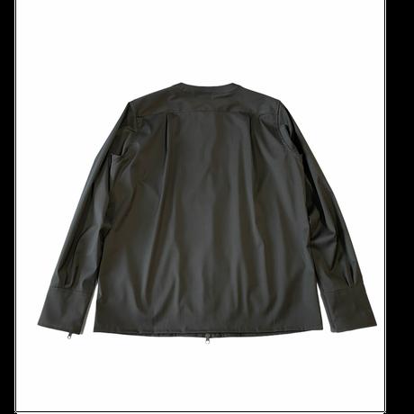 W/SOLOTEX no collar zip up shirt