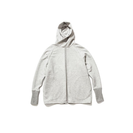 split cross neck parka