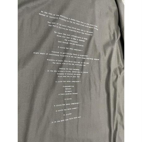 prasthana:月魄 loose fit M/S t-shirt