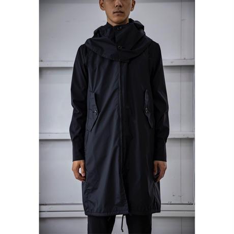 被覆 hooded sleeveless coat