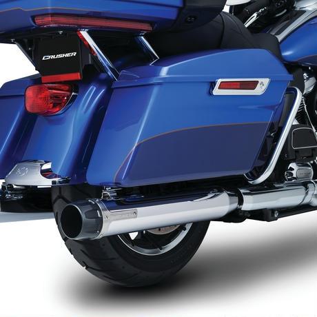 Crusher Maverick Touring Mufflers for Milwaukee-Eight  Chrome 635