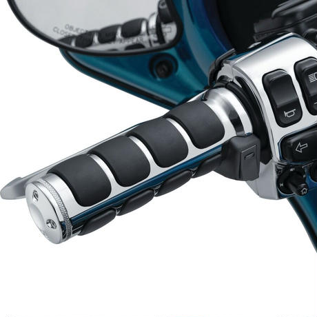 Heated ISO®-Grips for Electronic Throttle, Chrome(6470)
