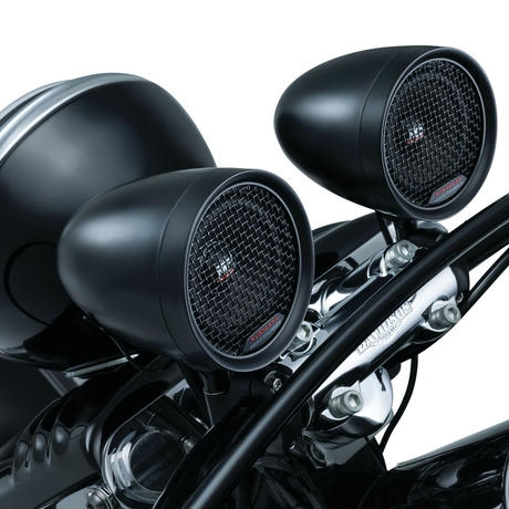 Road Thunder Speaker Pods & Bluetooth Audio Controller by MTX、 Satin Black 2713
