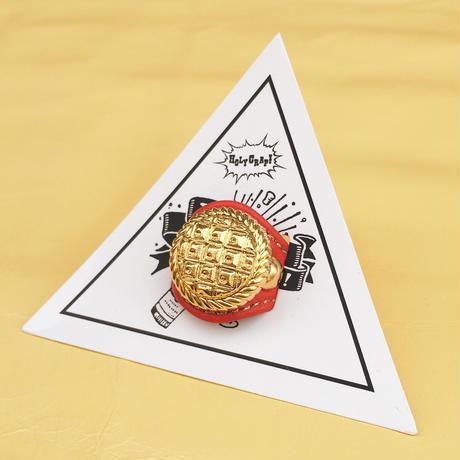 ★新作★ Leather Ring (レッドエンボス)