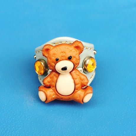 ★新作★ Leather Ring (テディ)