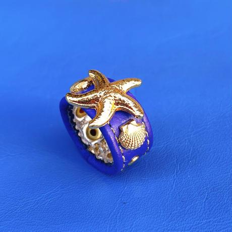★新作★ Leather Ring (ブルースターフィッシュ)