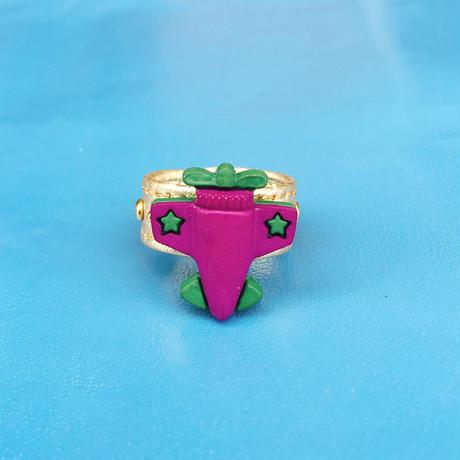 ★新作★ Leather Ring(パープルプレーン)