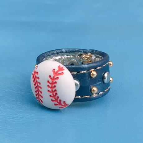 ★新作★Leather Ring (レッツプレイボール)