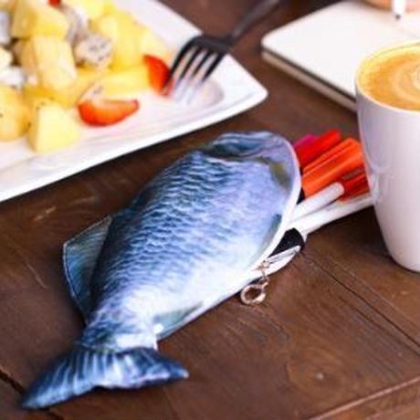 釣り好き必見!お魚みたいなペンケース 小物入れ 筆箱