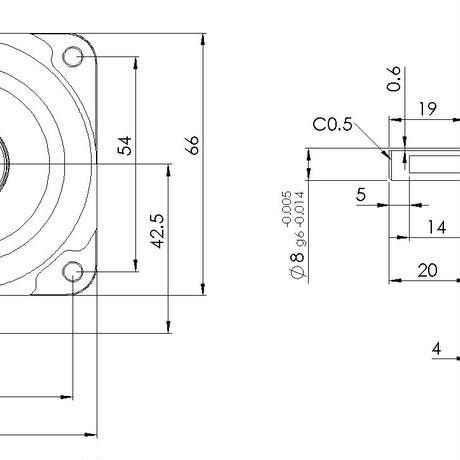磁場環境用 エンコーダ付500p/rモータ PSM60N-E