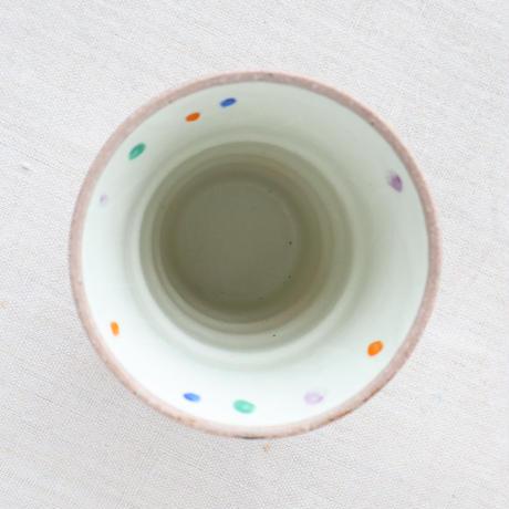 赤絵点紋 焼酎カップ