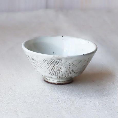 粉引くし目 茶碗(小)