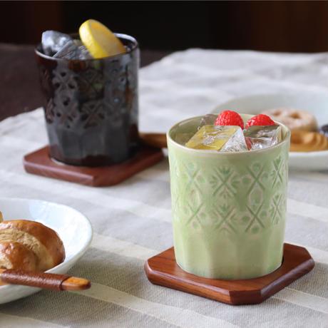 陶切子スタイル ロックカップ B&Gカラーセット