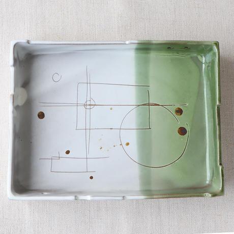 線の器 角鉢