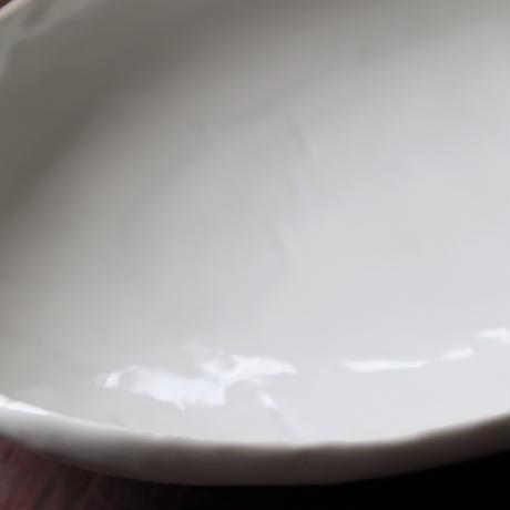 アイボリー 変形オーバル 楕円大皿