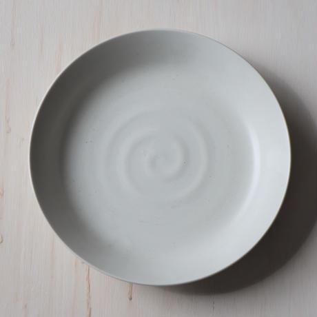 マットシンプルホワイト カレーパスタ皿