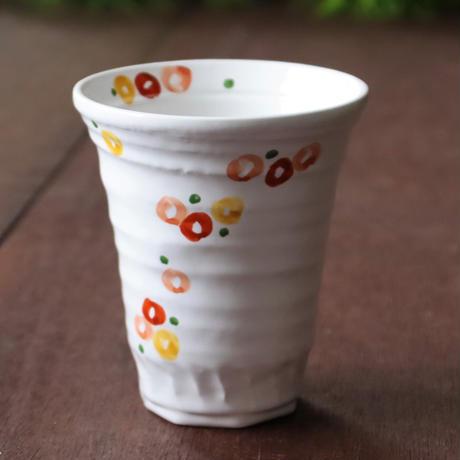 三色小花 持ちやすいトールカップ