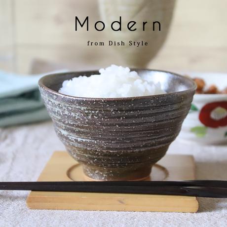 Modern 柿渋窯変 ご飯茶碗