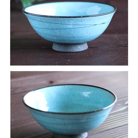 IRON POWDER 螺旋ブルー ご飯茶碗