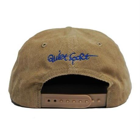 """QUIET SPORT """"QS logo Cord Cap"""" Tan"""