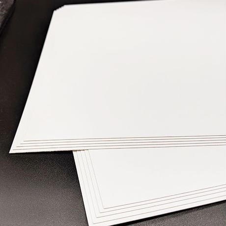厚紙 コートボール 裏白 270g/m2 A4サイズ 50枚