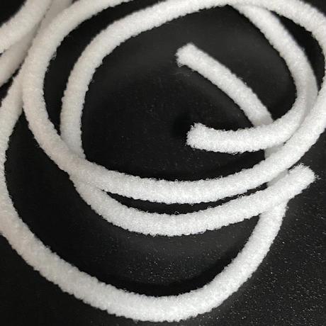 手づくりマスク用に!丸ゴム ホワイト2.5mm巾 10m