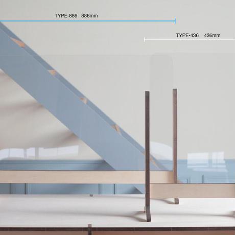 木製パーテーション TYPE-436 寸法:436×690×200mm