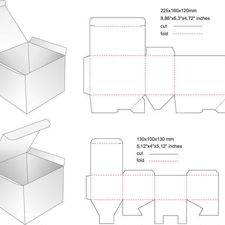 箱のサンプルカットサービス(事前に箱のCAD図面作成の注文が必要です。)