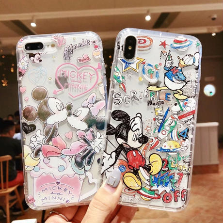Micky & Minnie  iPhoneケース ソフトケース  クリア