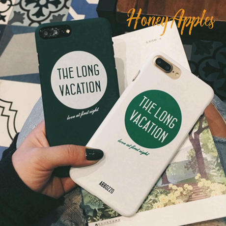 THE LONG VACATION iPhoneケース ハードケース Green / White