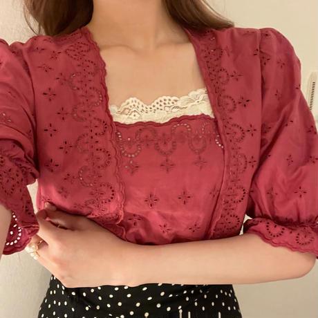 cotton lace vintage  blouse
