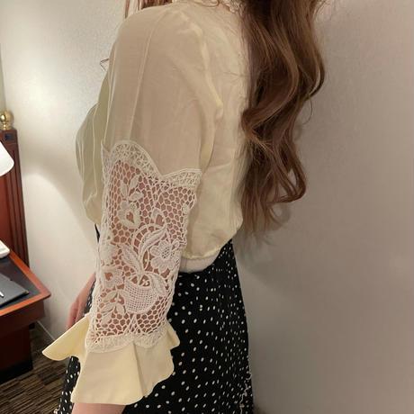 Honey cream tylor blouse