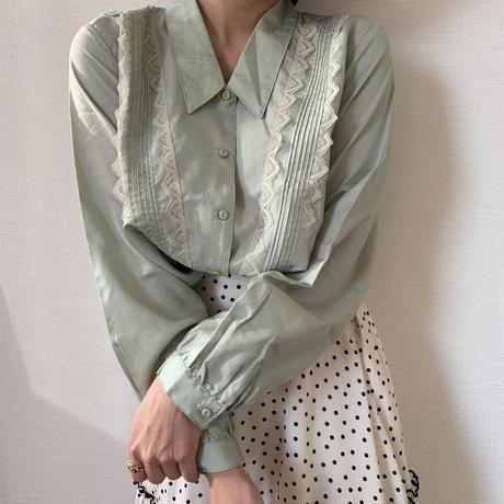 mint color fresh blouse