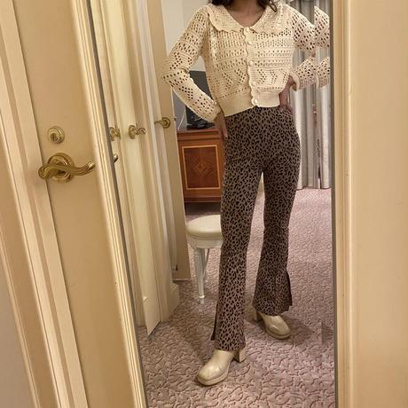 white girly knit cardigan