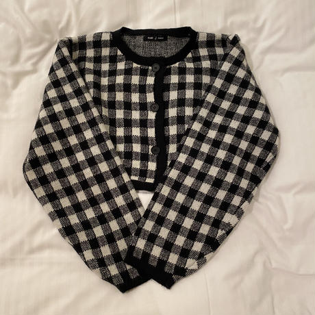gingham checkered cardigan & camisole